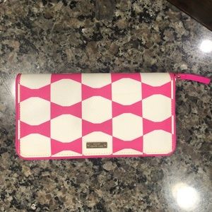 Late Spade Pink Bow Wallet